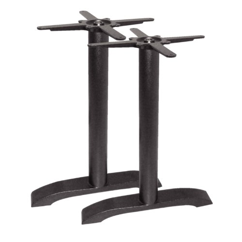 Bolero Dn642 Twin jambe Table Base, EN FONTE de Bolero