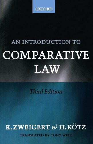 An Introduction to Comparative Law de Clarendon Press