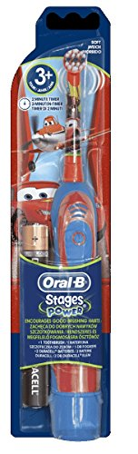 BRAUN ORAL B ADVANCE POWER KIDS BATTERY OPERATED TOOTHBRUSH CARS by Braun de Braun