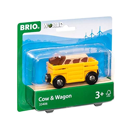 BRIO World  - 33406 - WAGON TRANSPORT DE BETAIL de BRIO