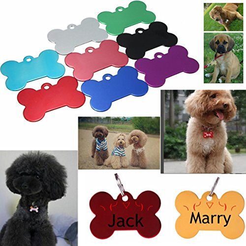 Chien Chat ID Forme Tag osseuse personnalisŽe Pet Nom ID Balises Collar de Buckdirect Worldwide Ltd.