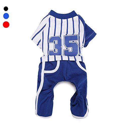 Buckdirect Worldwide Ltd. Chiens Animaux Coton Stripes Suit Sport T-shirt Pants Puppy Dog Jumpsuit de Buckdirect Worldwide Ltd.