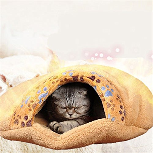 Lovely Cat chaud Maison Kitten souple Sac de couchage Cute Cat Cave Bed de Buckdirect Worldwide Ltd.