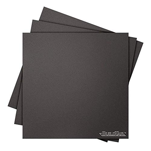 "Buildtak BT08X08-3PK Impression 3D Construire Surface, 8"" x 8"", Carré, Noir (Paquet de 3) de Buildtak"