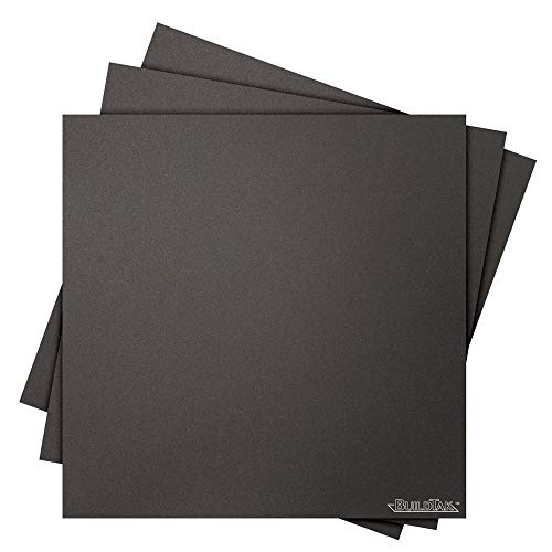 "Buildtak BT12X12-3PK Impression 3D Construire Surface, 12"" x 12"", Carré, Noir (Paquet de 3) de Buildtak"