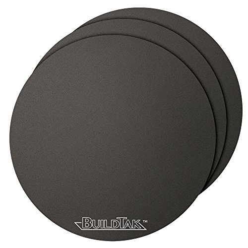 "Buildtak BT65DIA-3PK Impression 3D Construire Surface, 6.5"" Diamètre Rond, Noir (Paquet de 3) de Buildtak"