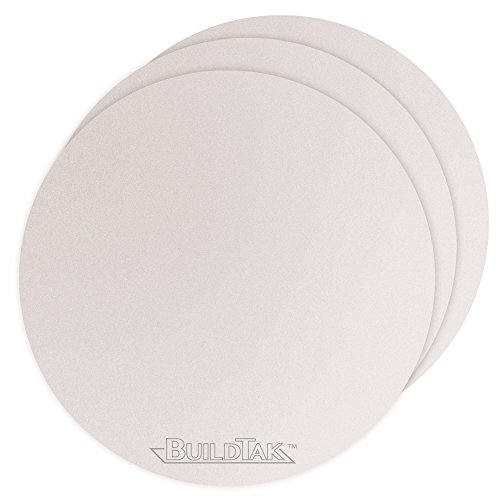 "Buildtak BT65DIAWT-3PK Impression 3D Construire Surface, 6.5"" Diamètre Rond, 165 mm Diamètre Rond, Blanc (Paquet de 3) de Buildtak"