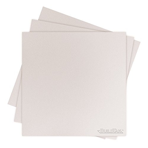 "Buildtak BT65X65WT-3PK Impression 3D Construire Surface, 6.5"" x 6.5"", 165 x 165 mm, Carré, Blanc (Paquet de 3) de Buildtak"