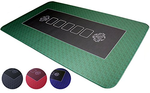 Tapis de poker professionnel 100 x 60 cm de Bullets Playing Cards pour votre propre table de poker - plateau de poker deluxe - revêtement table de poker - tapis de cartes - idéal pour un cadeau de Bullets Playing Cards