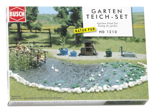 Hornby France - Busch - 1210 - Circuit - Train - Set bassin de jardin de Busch