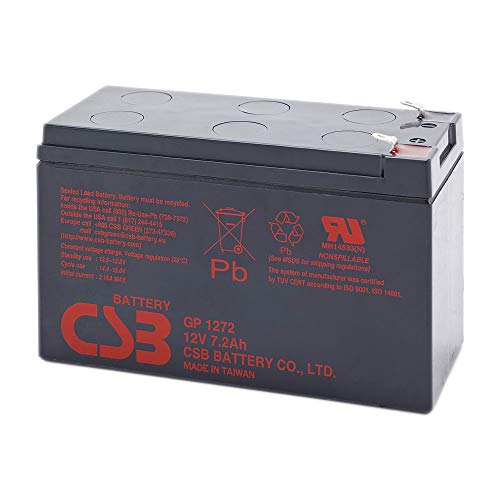 CSB GP1272 F2 batterie au ploMB scellée rechargeable 12 V 7,2Ah. Faston 6,35 mm. de CSB