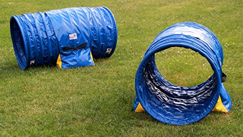 Double-emballage hoopers tunnel Ø 60cm couleur bleu–bleu, 2 sacs de lestages « premium » déjà inclus de Callieway®