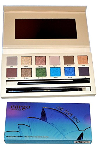 Cargo Cosmetics Eye Shadow Palette-12 Shadows and Brush Land Down Under de MAYBELLINE