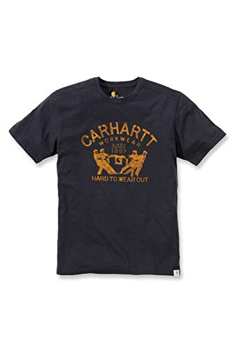 """Carhartt T-shirt .102097.001.S007 Maddock, inscription Hard to wear out, XL, Noir"" de Carhartt"