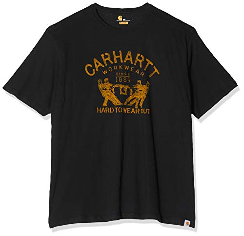 """Carhartt T-shirt .102097.001.S008 Maddock, inscription Hard to wear out, XXL, Noir"" de Carhartt"