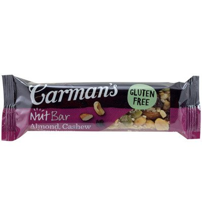 Carmens Almond Cashew & Cranberry Nut Bar 45g x 12 de Carman's Kitchen