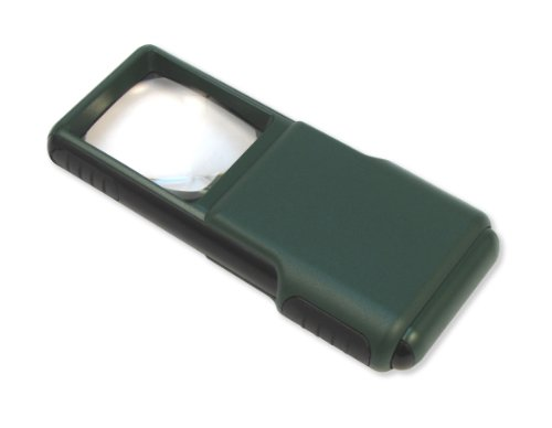 Carson 5x MagniBrite LED Lighted Slide Out Aspheric Magnifier with Protective Sleeve de Carson