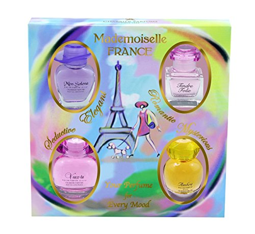 Charrier Parfums Mademoiselle France Coffret de 4 Eau de Parfums Miniatures Total 44,1 ml de Charrier Parfums