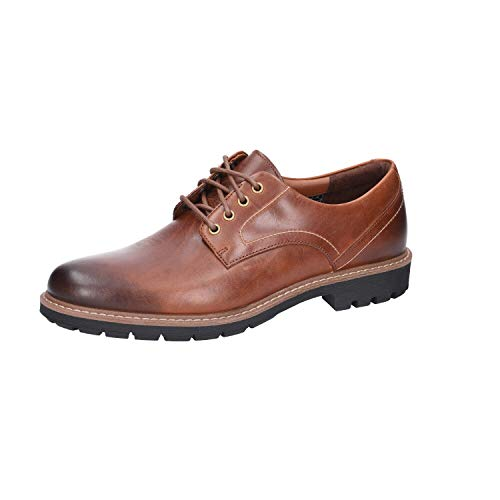 Clarks Batcombe Hall, Derbys Homme, Marron (Dark Tan Lea-), 46 EU de Clarks