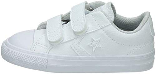 Converse Lifestyle Star Player Ev 2v Ox Synthetic, Chaussons Mixte bébé, Blanc (White/White/White 100), 21 EU de Converse