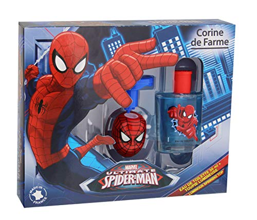 Corine de Farme Coffret Spiderman Eau de Toilette + Toupie Lumineuse 50 ml de Corine de Farme