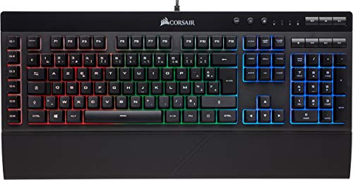 Corsair K55 Clavier Gaming (Rétro-Éclairage RGB Multicolore, AZERTY) Noir de Corsair