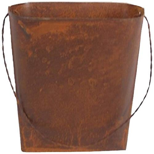 Craft Outlet 4.5-inch Rustic Wall Bucket Container, Mini, Set of 4 de Craft Outlet Inc