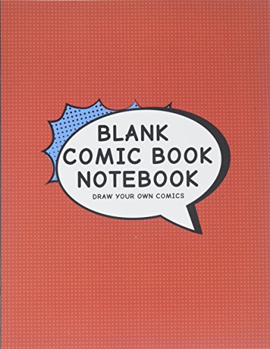 Blank Comic Book Notebook: Create Your Own Comic Book Strip, Variety of Templates For Comic Book Drawing, Vintage Red-[Professional Binding] de CreateSpace Independent Publishing Platform