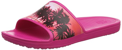 Classic Slipper, Chaussons Mixte Adulte - Rose (Candy Pink/Oatmeal), 41-42 EU (M7/W8 UK)Crocs