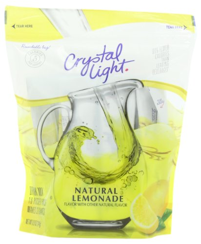 CRYSTAL LIGHT - NATURAL LEMONADE FLAVOUR DRINK MIX - MAKES 32 QUARTS - 244g POUCH AMERICAN de Crystal Light