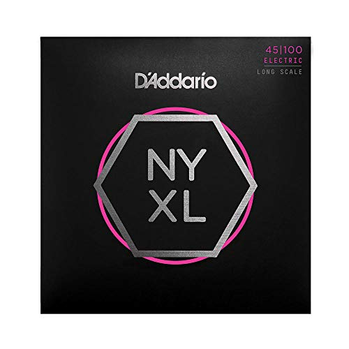 D'Addario NYXL45100 Bass Nickel Wound, Long Scale, regular light de D'Addario