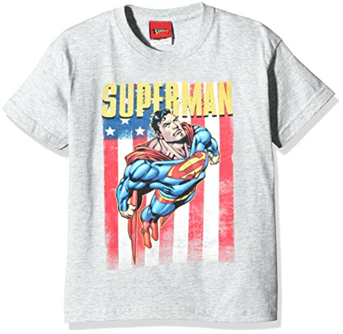 DC Comic Superman Us Flight T- T-Shirt, Gris (Sport Grey), X-Large Garçon de DC Comic