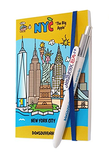 Carnet et stylo New York. Modèle : The Big Apple. - de DONSOUVENIR