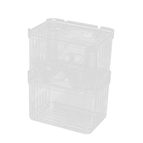 DealMux plastique Aquarium de doubles couches d'isolation incubation pour animaux Box w ventouses de DealMux