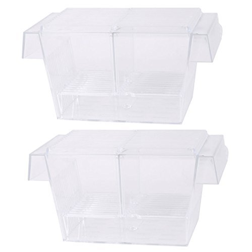 Dealmux Plastique Aquarium pondoir Aquarium de crevettes d'élevage Box Case 2 pcs de DealMux