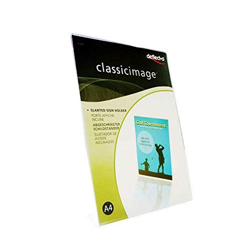 Deflecto Porte affiche transparent pour documents A4 portrait incliné de Deflecto