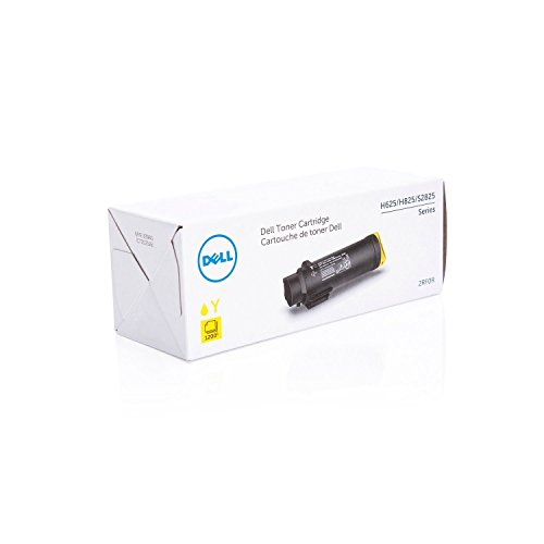 Dell Toner 2rf0r 593 de bbry, H625/H825/s2825, 1200 pages, Jaune de Dell