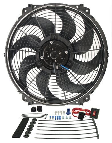 Derale DR 16516 Tornado Extracteur Fan sans Thermostat, 425 x 400 x 106 x 44 mm, 16 Pouces de Derale