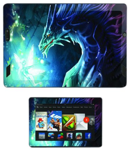 Skins, Autocollants et Stikers Vinyles Diabloskinz pour Kindle Fire HD - Dragon and Faerie de Diabloskinz