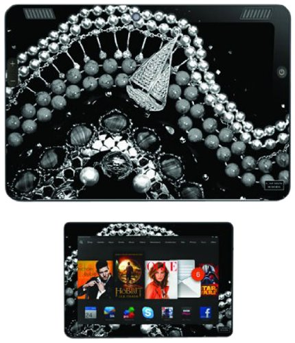 "Skins, Autocollants et Stikers Vinyles Diabloskinz pour Kindle Fire HDX 8.9"" - Black & White Golden Voyage de Diabloskinz"