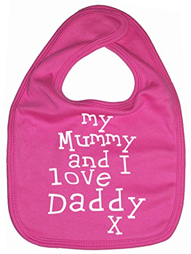 """Dirty Fingers, My Mummy and I Love Daddy x, Bébés Bavoirs, Fuchsia"" de Dirty Fingers"