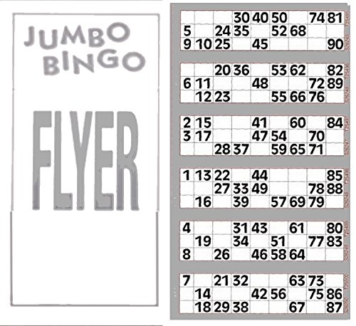 Bingosupermarket Lot de 6 planches et 600 tickets géants de bingo de Disney