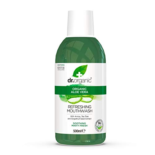 Dr. Organic Aloe Vera Mouthwash 500ml de OPTIMA NATURALS Srl