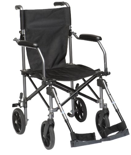 Drive Medical TC005 Fauteuil roulant de transport en aluminium 45,7 cm de Drive Medical