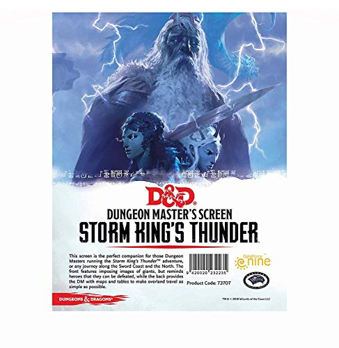 D&D Dungeon Master's Screen Storm King's Thunder GF9 73707 by Dungeons & Dragons de Gale Force Nine