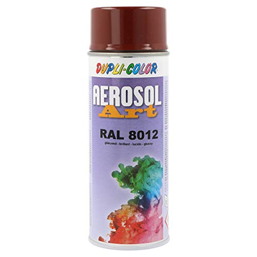 Duplicolor 733116 Spray Aérosol Art RAL 8 012, Brillant, 400 ml rouge/marron de Dupli Color