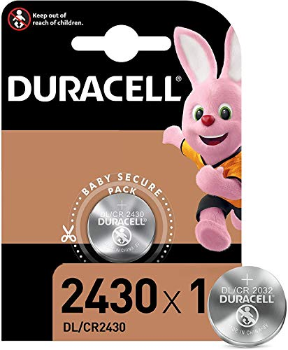 """DURACELL Pile-bouton lithium Duracell DL2430 (1 unité sous blister), 3V, Lithium [ Piles bouton (lithium) ]"" de Duracell"