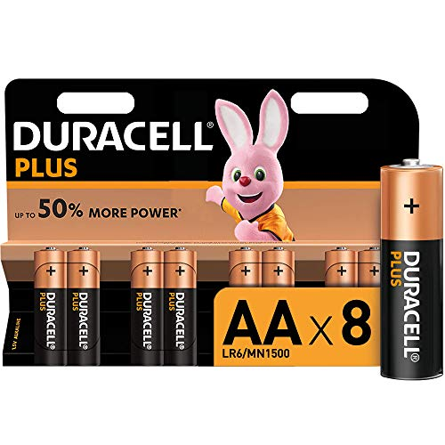 """Duracell Plus Power Piles Alcalines type AA, Lot de 8"" de Duracell"