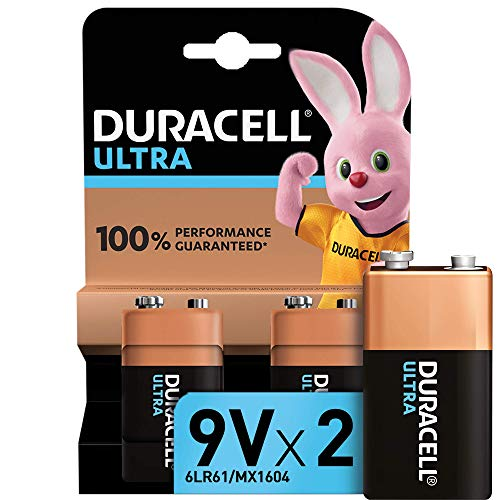 """Duracell Ultra Power Piles Alcalines type 9V, Lot de 2"" de Duracell"