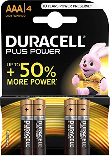 Duracell Plus Power Lot de 4 piles AAA de Duracell